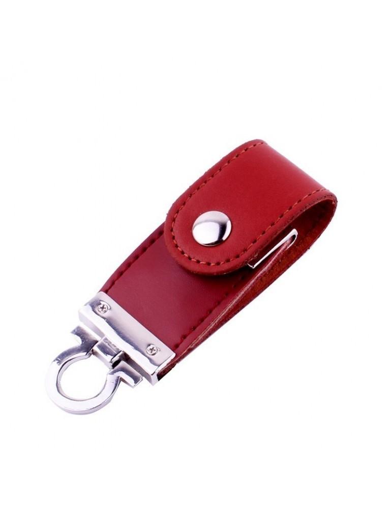 32 GB həcmdə dəri üzlüklü açarlıq tipli flashka
